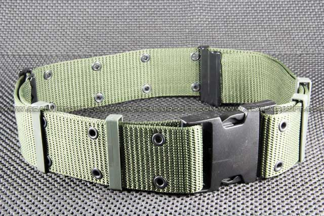 BDU 2.25 inch S Type Heavy Duty Combat Belt Olive Drab BT-04-OD