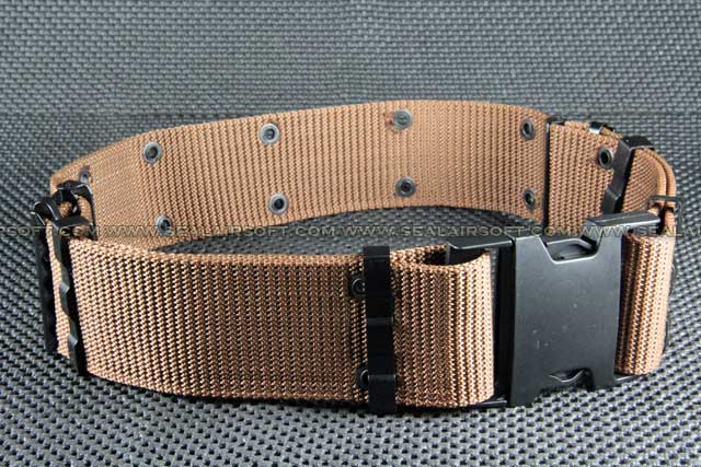 BDU 2.25 inch S Type Heavy Duty Combat Belt Brown BT-04-BN