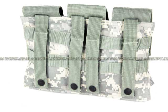 ACM Airsoft Molle Triple Magazine Pouch Digital ACU Camo PH-010-ACU