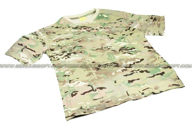 Camouflage Short Sleeve Cambat T-Shirt Multi-Cam With Logo SHIRT-01-MC