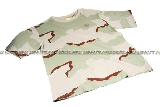 Camouflage Short Sleeve Cambat T-Shirt Desert Camo With Logo SHIRT-01-DC