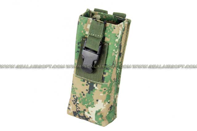 ACM Molle Large Radio / Walkie Talkie Pouch Digital Woodland Camo PH-011-DWC