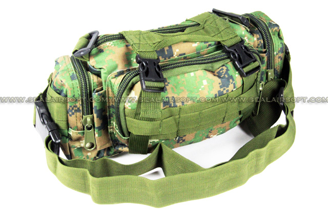 ACM Molle Utility Shoulder Waist Pouch Bag Digital Woodland Camo BG-12-DWC