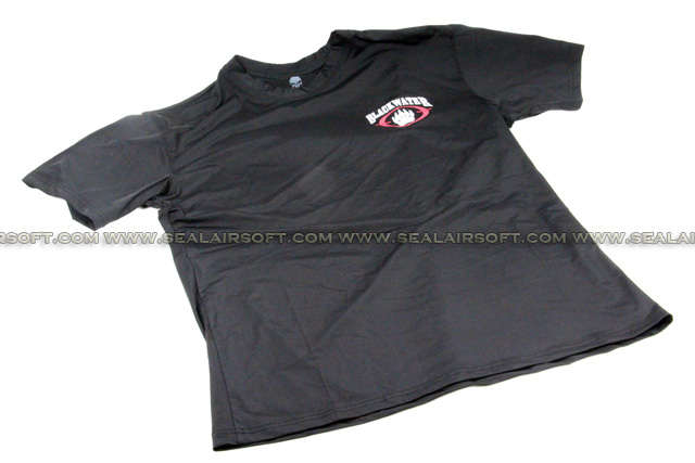 Emerson Quick Dry Perspiration BLACKWATER Logo T-Shirt Black SHIRT-03-BK