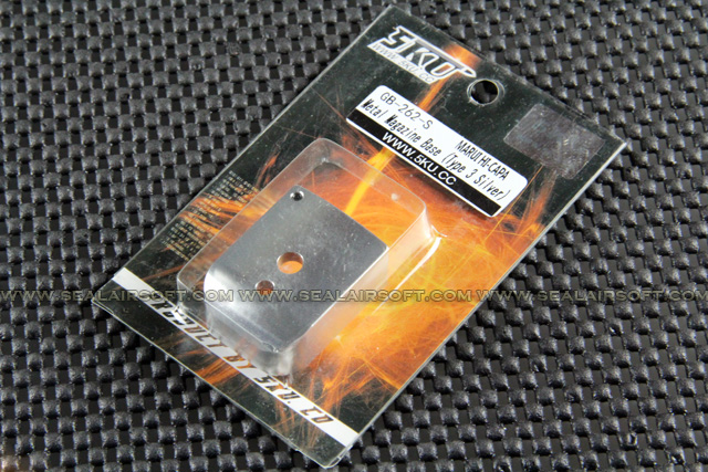 5KU IPSC Metal Magazine Base For Marui Hi-Capa (Type 3, Silver) GB-262-S
