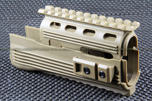 A.P.S. AK74 Type Tactical Railed Handguard for AK AEG (Dark Earth) APS-EE019-DE