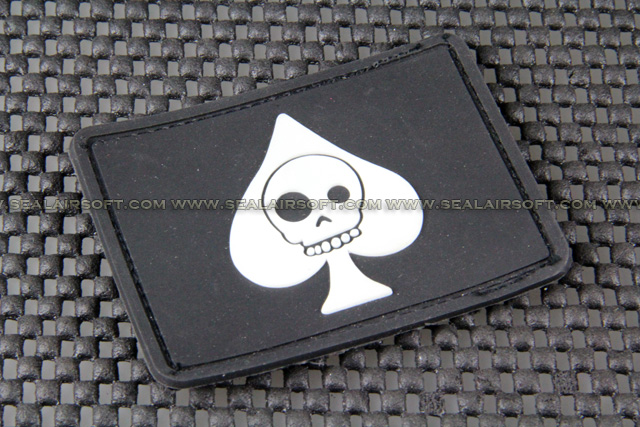 ACM SKULL ACE Logo Rubber Velcro Patch (OP-036)