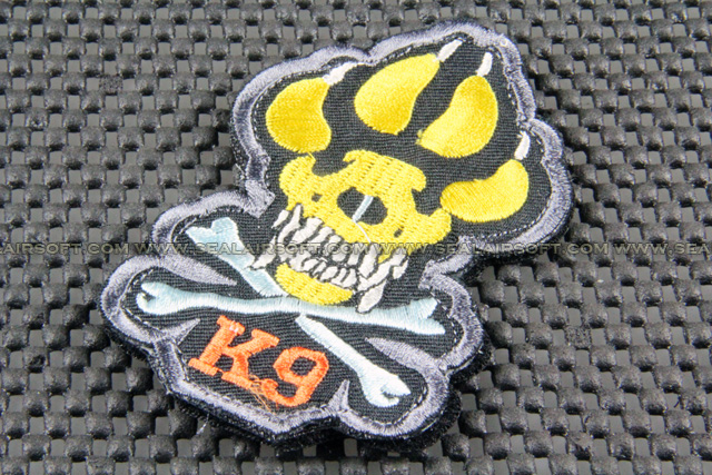 ACM K9 Skull Logo Velcro Patch (OP-055-COLOR)