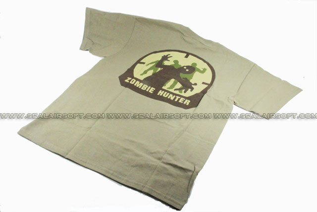 Mil-Spec Monkey T-Shirt - Zombie Hunter (Greenish Brown)