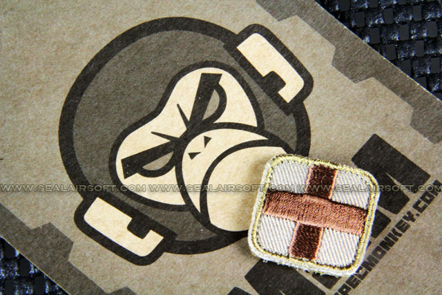 Mil-Spec Monkey Patch - Medic Square 1 Inch PT98 Desert
