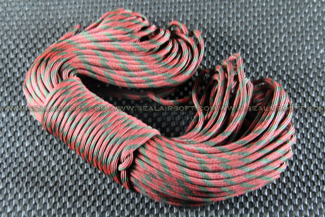 Big Dragon 30m Nylon PARACORD C Type (Red Camouflage)