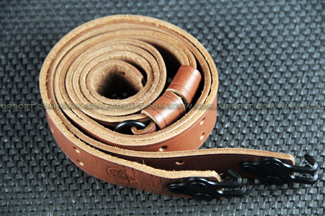 A.C.M. Airsoft Leather Rifle Sling For M14 Brown #8268