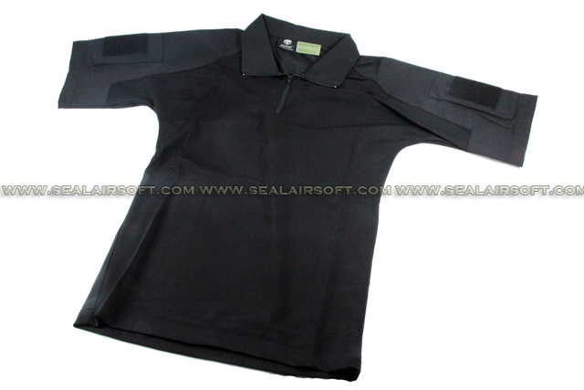 China Made Dry Fit Tactical Combat Shirt (Black) SHIRT-04-BK
