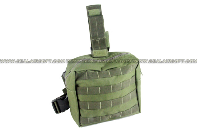 ACM Airsoft Molle Drop Leg Panel Utility Pouch Olive Drab PH-014-OD