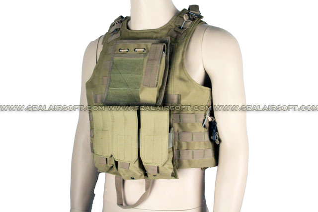 ACM USMC Molle Combat Assault Plate Carrier Vest Coyote Brown ACM-VEST-002-CB