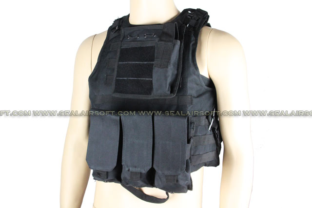 ACM USMC Molle Combat Assault Plate Carrier Vest Black ACM-VEST-002-BK
