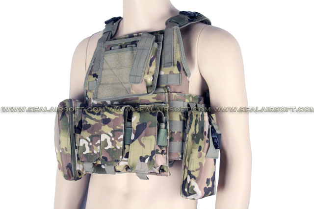 ACM USMC MOD Molle Assault Plate Carrier Vest Multi Camo ACM-VEST-004-MC