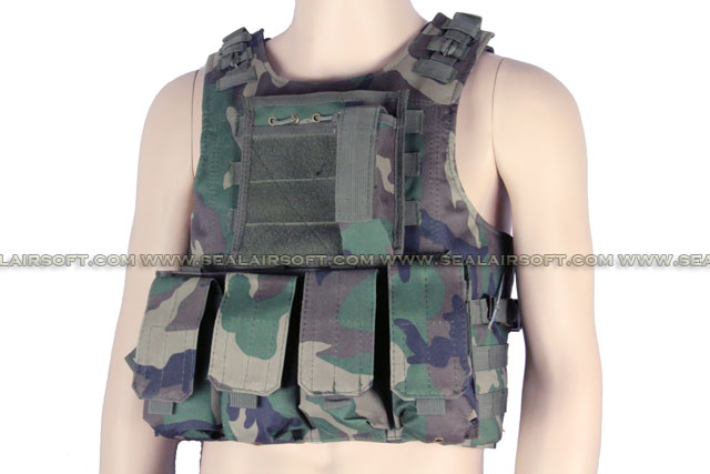 ACM USMC Molle Combat Assault Plate Carrier Vest Woodland Camo ACM-VEST-007-WC