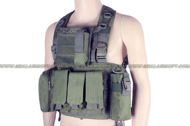 ACM LBV Load Bearing Molle Assault Vest Olive Drab ACM-VEST-006-OD