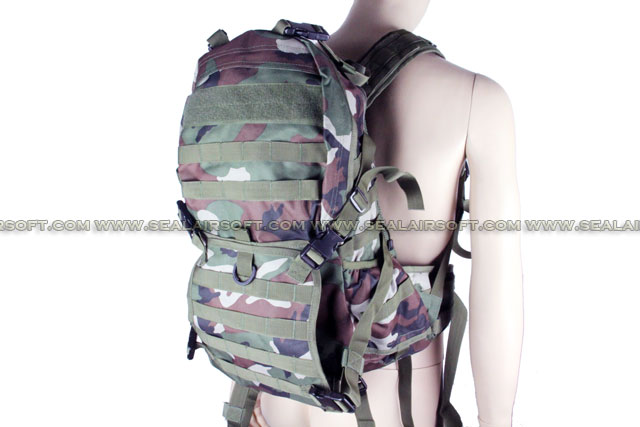 ACM Verion 2 Tactical Molle Patrol Rifle Gear Backpack Woodland Camo BG-23-WC