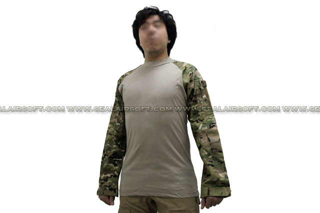 EMERSON Tactical Series Long Sleeve Combat Shirt Multi Camo EM8515-MC Size Available