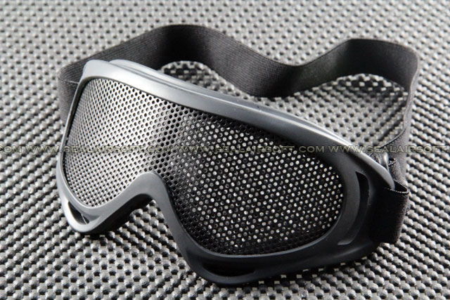 ACM New Verion UVX400 Type Airsoft Mesh Lens Black Shooting Goggle MG03-BK