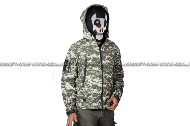 Stealth Hoodie SharkSkin Soft Shell Waterproof Jacket Digital ACU Camo ACM-JACKET-01-ACU