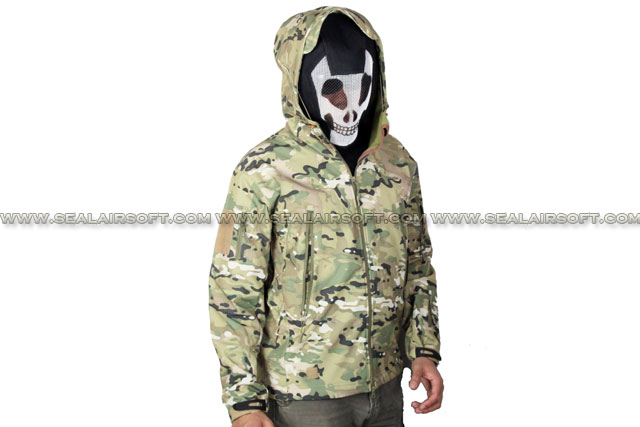 Stealth Hoodie SharkSkin Soft Shell Waterproof Jacket Multi Camo ACM-JACKET-01-MC
