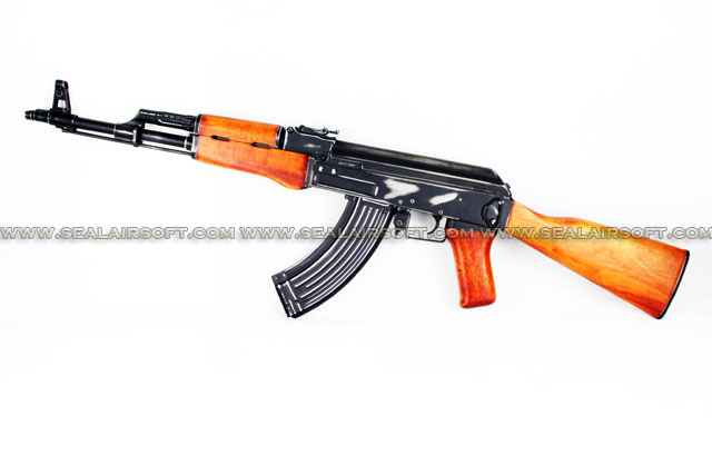 A.P.S. AK47 Real Wood Shabby EBB Rifle (ASK 206A)