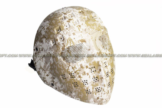 New Verison A.C.M. Steel Mesh Deluxe Full Face Digital Desert Camo Airsoft Mask 05