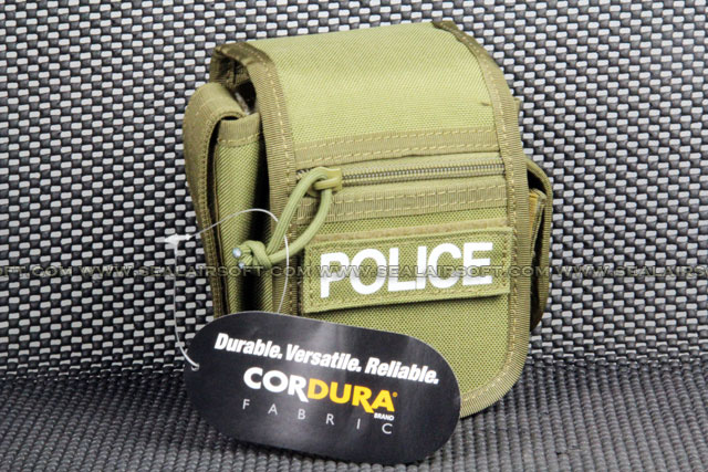 CORDURA 1000D Coyote Brown Belt Pouch With Police Patch PH-019-CB