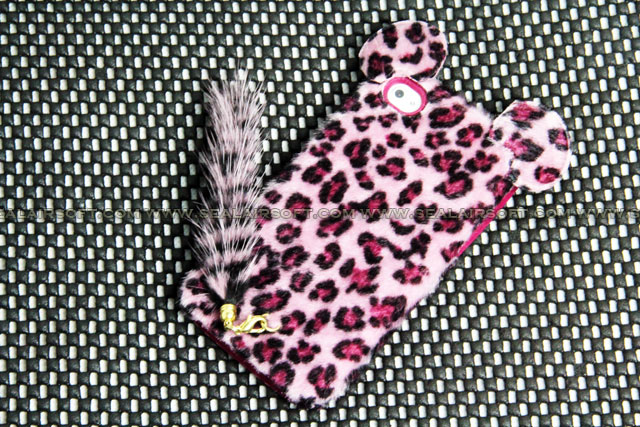 NEW i Phone 4 Case Red Leopard Body tail case FOR APPLE iPhone 4G 4S