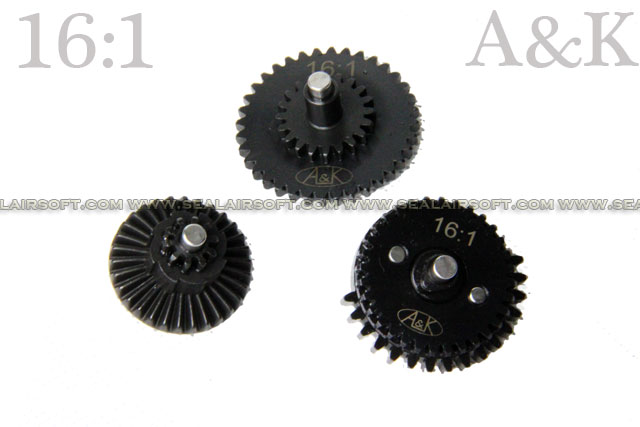 A&K Airsoft 16:1 Ratio AEG Gearbox Gear Set