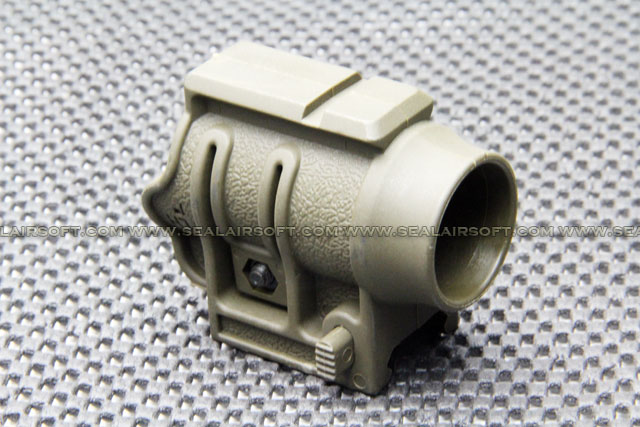 Polymer 25mm Torch Mount w/ Top Rail For 20mm Olive Drab