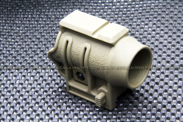 Polymer 25mm Torch Mount w/ Top Rail For 20mm Tan