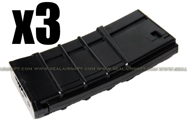 D-BOYS 300rd Hi-Cap Canada Black Magazine For M4 / M16 AEG DB-MAG-14-BK-3PCS
