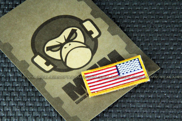 Mil-Spec Monkey Patch - US Flag Mini Rev Logo Velcro-Patch - Color