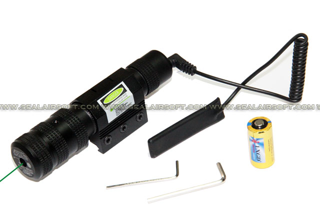 ACM Key Adjustable Visible Green Laser Sight With Mount & Remove Pad JG038
