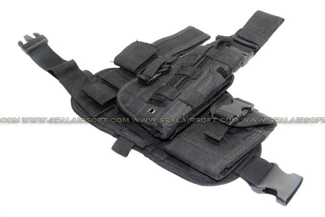 Combination Drop Leg Pistol Holster Black (PH-020-BK)