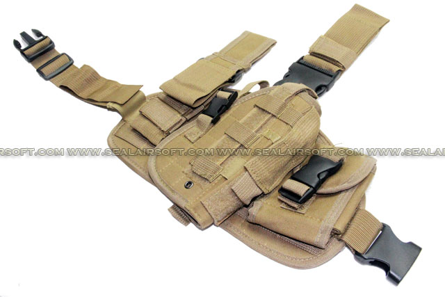 Combination Drop Leg Pistol Holster Tan (PH-020-TN)
