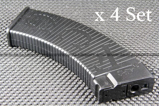A.P.S. Tactical 500 Rounds Hi-Cap Magazine For AK47 / AK74 AEG x 4 Set (Black)