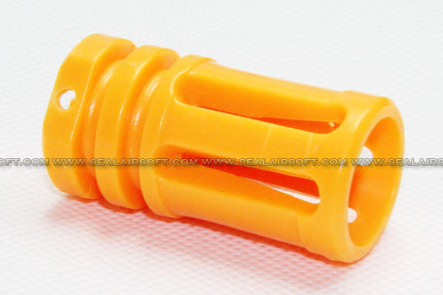 SE Orange Plastic Flash Hider For 14mm CW Barrel Thread SE-OPF-CW