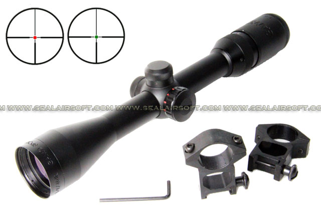 ACM 3-9x40mm Size Wheel Red Green Target Dot Rifle Scope With Mount RS-043