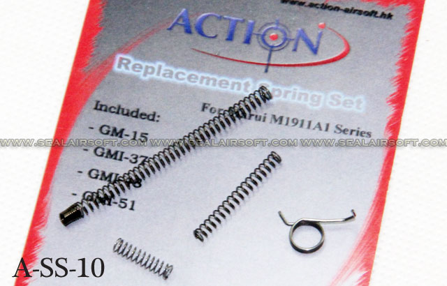 Action Replacement Spring Set for Marui M1911A1 GBB - AT-SS-10