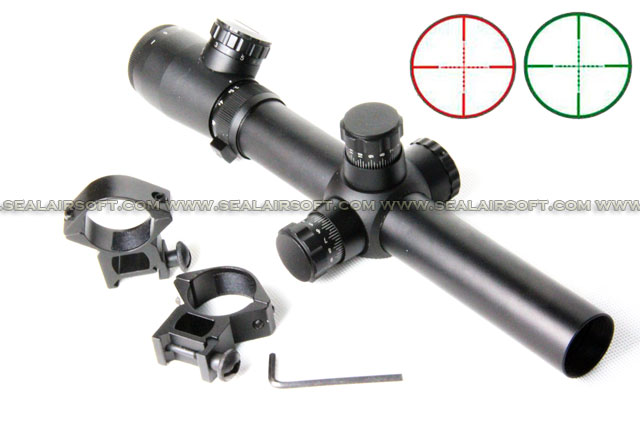 ACM M2 3.5-10x25mm Red Green Mil-Dot Range Rifle Scope With Mount RS-039