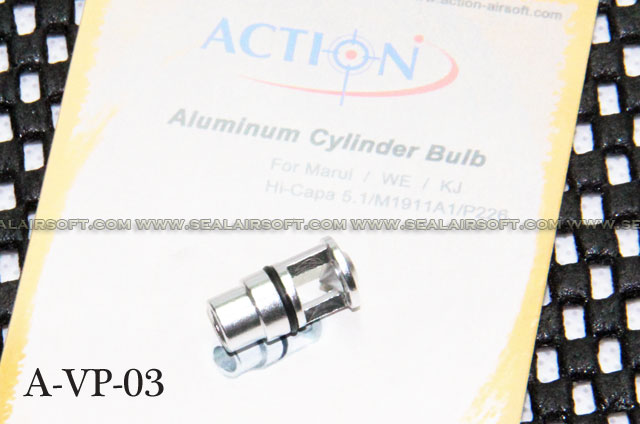 Action Aluminum Cylinder Bulb for Marui/WE/KJ HI-CAPA/M1911A1/P226 GBB