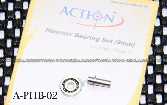 Action 9mm Hammer Bearing Set for Marui Glock 17 Series GBB - AT-PHB-02