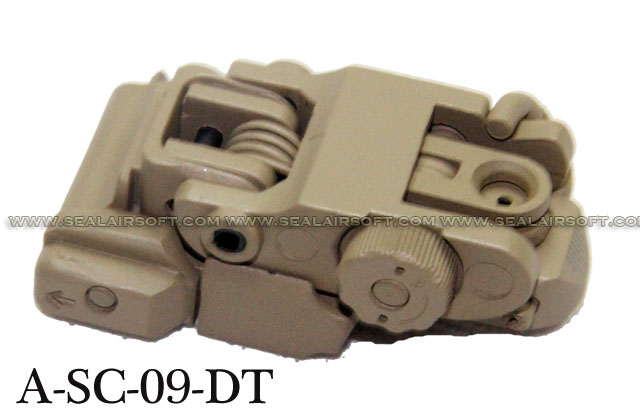 Action Tactical Flip Up Rear Sight (TAN) - A-SC-09-DT