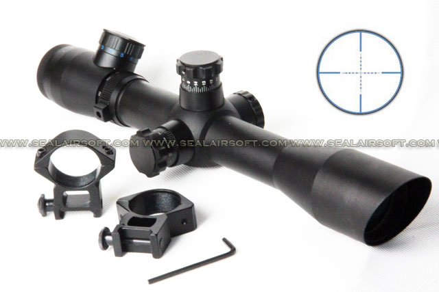 ACM M4 4-12x40mm Blue Mil-Dot Range Rifle Scope With Mount RS-038