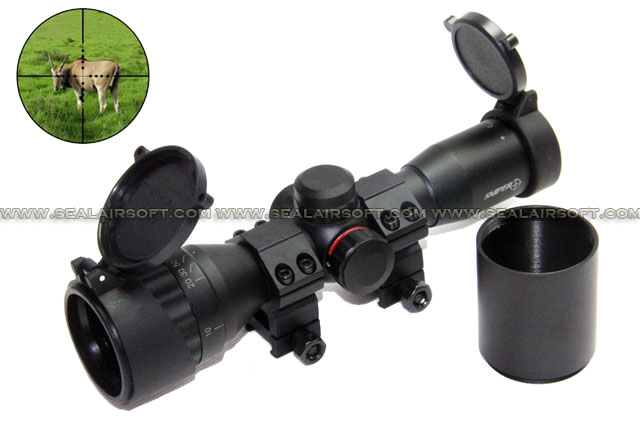 SNIPER 4x32 MAOL Dual Red Green Milt Dot Rifle Scope With Extender SE-SR-SC0068